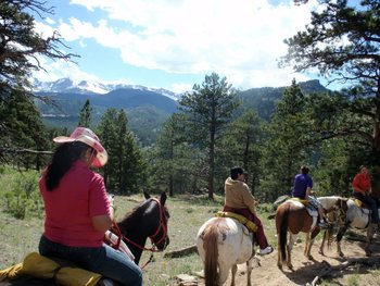 Trail riding at Alpine Trail Ridge Inn.