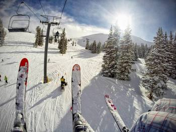 Skiing at  	SkyRun Vacation Rentals - Copper Mountain, Colorado.