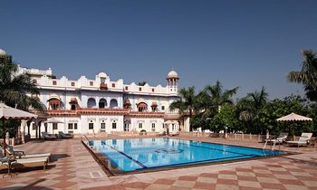 Exterior view of Laxmi Vilas Palace.
