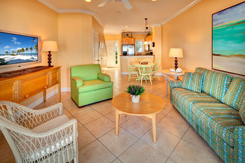 Beach house living room at Tranquility Bay Beach house Resort.