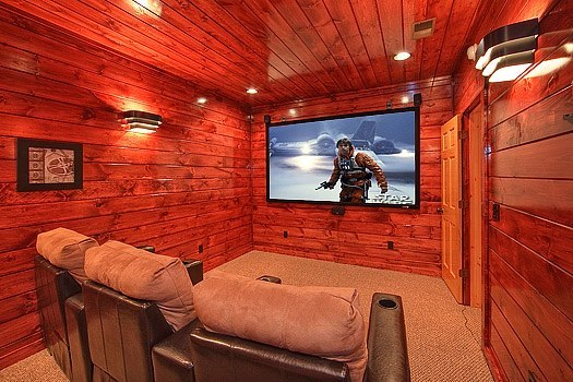 Cabin theater at Elk Springs Resort.
