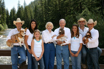 Family reunions at Harmels Ranch Resort.