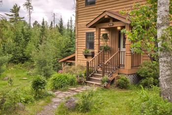 Cabin exterior at Poplar Creek  B & B.