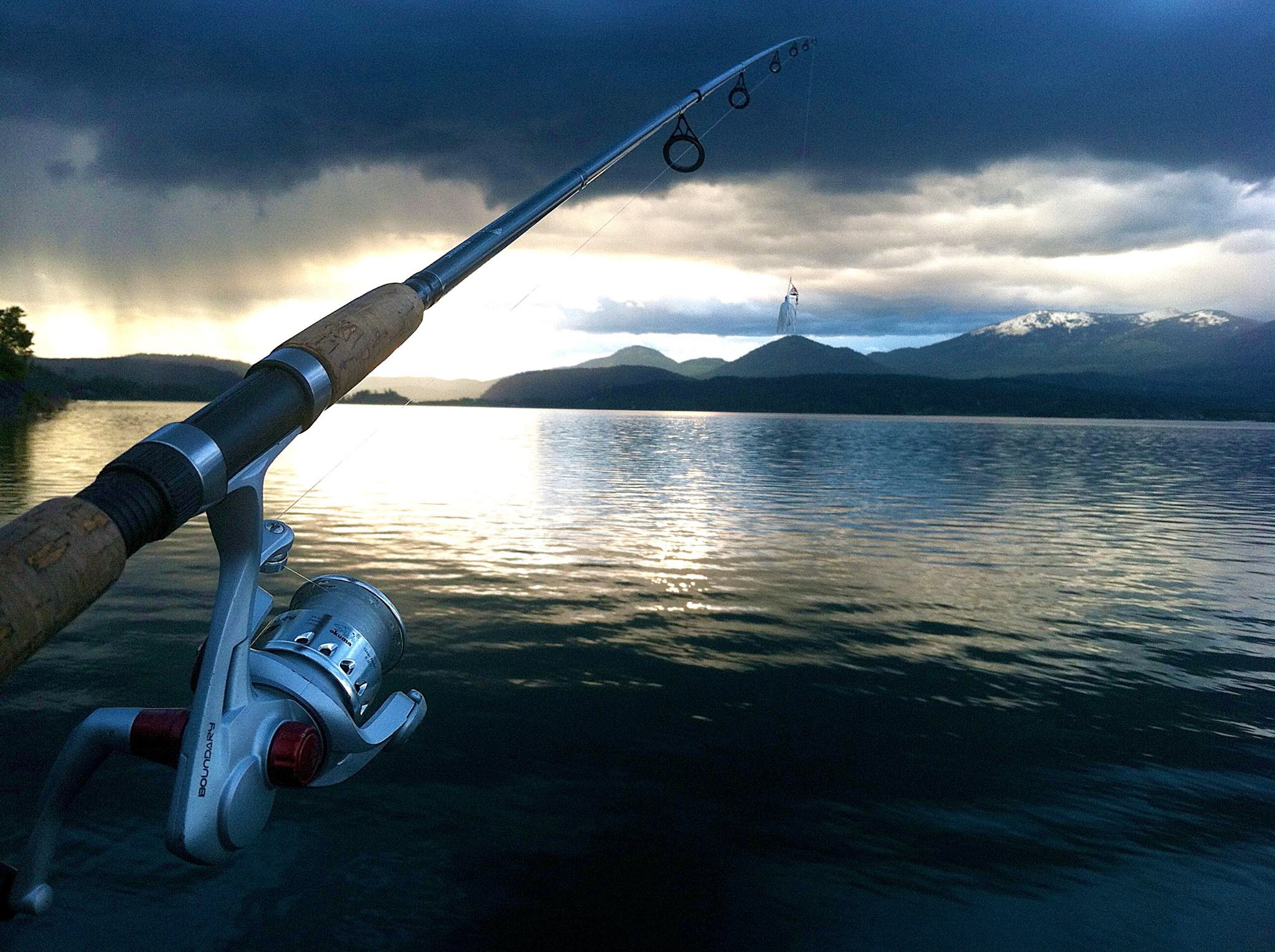 Fishing at Sleep's Cabins.