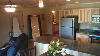 Bridal suite at Appeldoorn's Sunset Bay Resort.