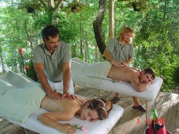 The spa at Mountain Harbor Resort.