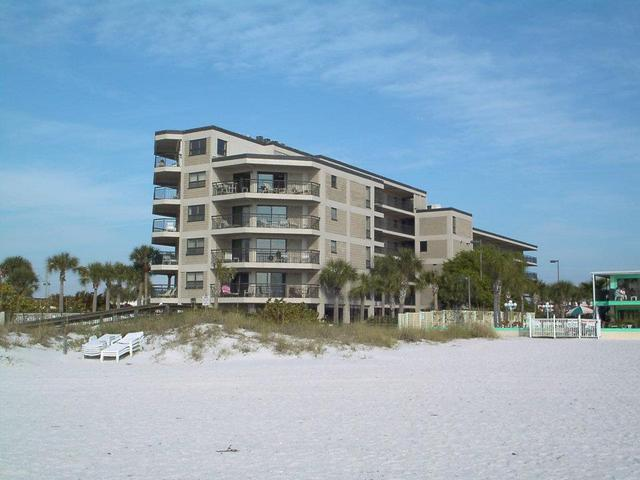 Exterior view of Gulf Strand Resort.