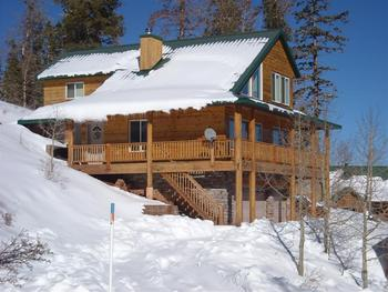 Cabin exterior at Lori's Luxury Rentals.