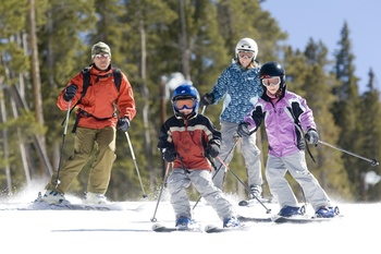 Family skiing at Rocky Mountain Resort Management.