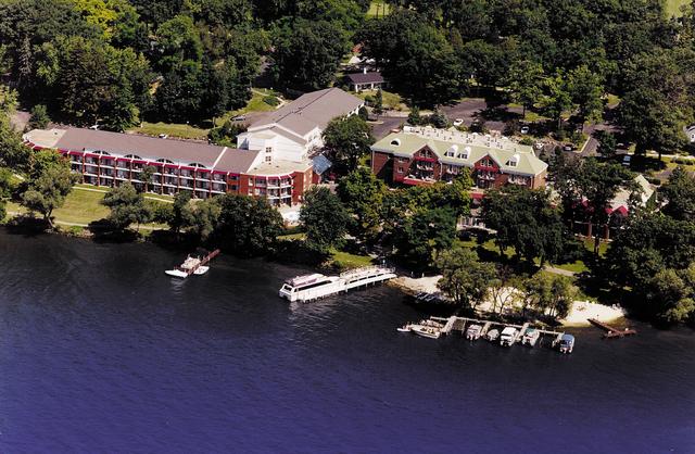Aerial view of Heidel House Resort.