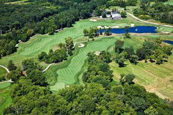Aerial view of Geneva National Resort.