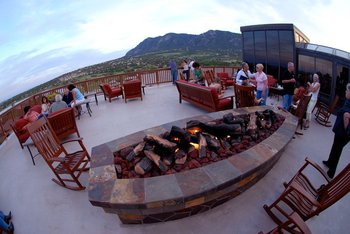 Fire pit at Cheyenne Mountain Resort.