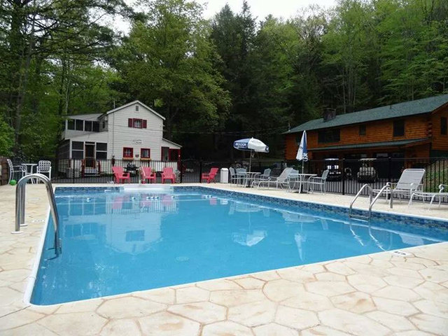 Outdoor pool at English Brook Cottages.