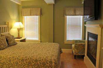 Suite bedroom at Atlantic House Inn.