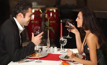 Romantic dining at Christopher's Inn.