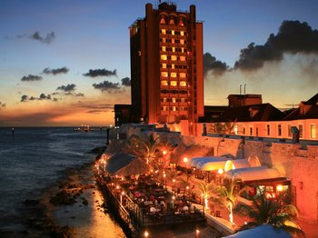 Exterior View of Plaza Hotel Curacao