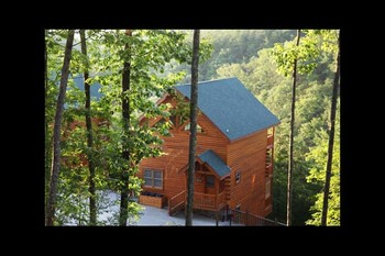 Cabin exterior at Eden Crest Vacation Rentals, Inc. - Rocky Top Escape.