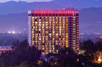 Exterior view of Sheraton Universal Hotel.