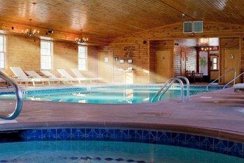Indoor pool and whirlpool at Stroudsmoor Country Inn.