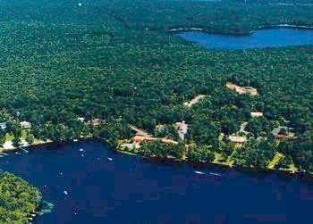 Aerial Resort View at Woodloch Resort
