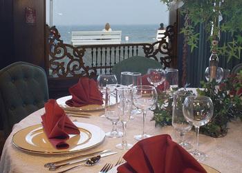 Dining at Boardwalk Plaza Hotel.