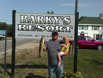 Fishing at Barky's Resort.