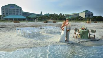 Wedding Couple On Beacha at  The Westin Hilton