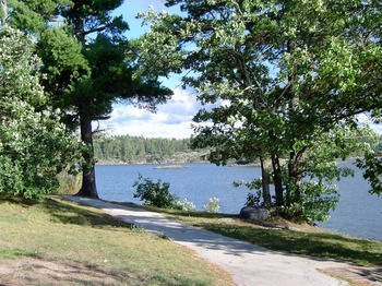 Lake view at Lake Of The Woods Lodge.