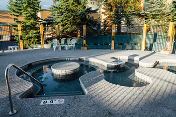Outdoor pool at Douglas Fir Resort & Chalets.