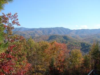Mountain view at Cobbly Nob Rentals.