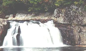 Little Waterfalls at Tuckasiegee River Mountain Lodge