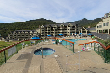Outdoor pool at Eastern Slope Inn Resort.