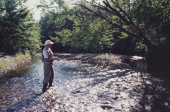 Fishing at Carpenter Lake Cabins