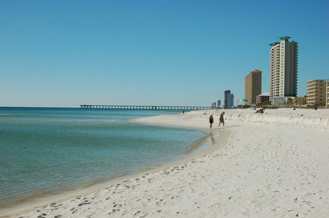 Walking the Beach at Days Inn Panama City Beach