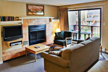 Living Room of a Two Bedroom Unit at the Panorama Vacation Retreat at Horsethief Lodge