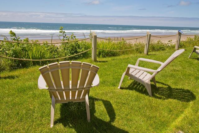 Relax by the beach at Pelican Shores Inn.