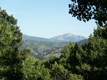 Mountain views at Harmels Ranch Resort.