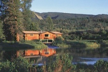 Exterior View of Cabin at Moose Head Ranch