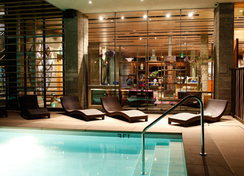 Indoor pool at h2hotel.