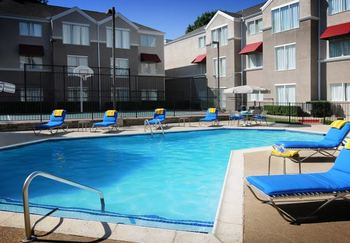 Outdoor pool at Residence Inn by Marriott Dallas Market Center.