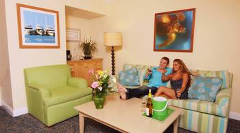 Couple In Living Room at Parrot Key Resort