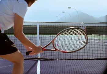 Tennis court at Renaissance Esmeralda Resort.