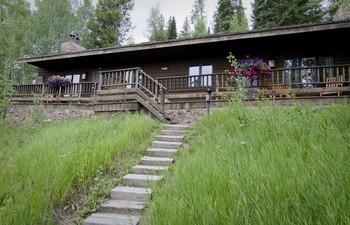 Cabin exterior at C Lazy U Ranch.