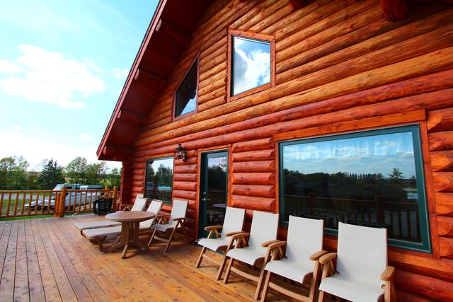 Deck view at Zippel Bay Resort.