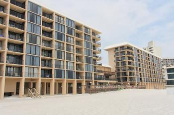 Exterior view of Ocean Towers Beach Club.
