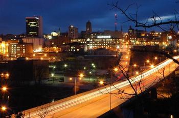 Skyline view of Lynchburg, Virginia