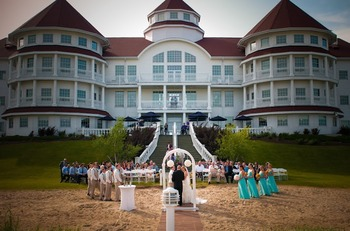 Wedding ceremony at Blue Harbor Resort and Spa.