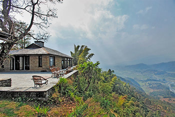 Exterior view of Tiger Mountain Pokhara Lodge.