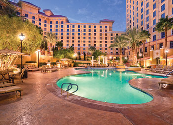 Outdoor pool at Wyndham Grand Desert.