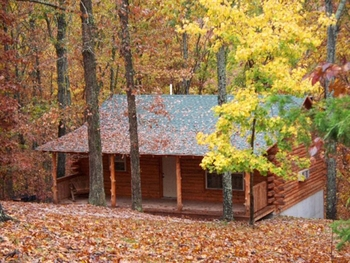 Exterior View of Cabin at Lake Forest Cabins